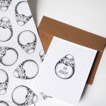 Geschenkpapier Perlenring
