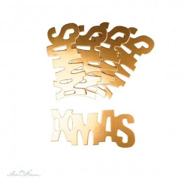 5 x Geschenkanhänger XMAS / Metallic Bronze