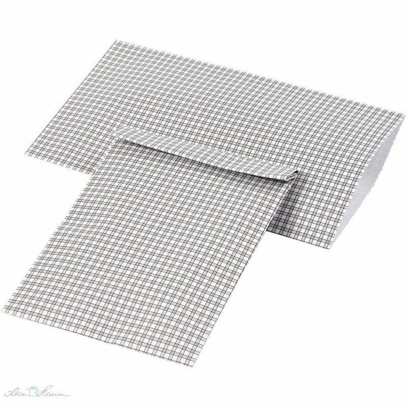 Papiertüten kariert, Schwarz & Weiß, 12 Stück