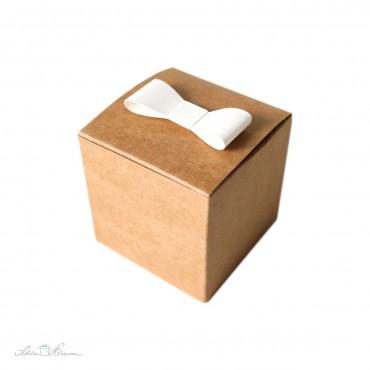 Papierschleife, 12 x, weiß