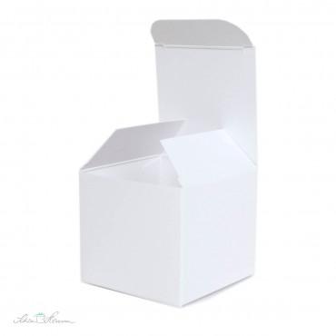 Faltschachtel weiß / 5,5 x 5 x 5,5 cm