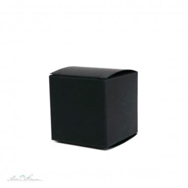 Faltschachtel schwarz / 4,4 x 4,4 x 4,4 cm