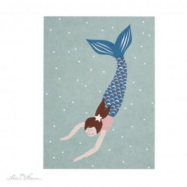 Postkarte Meerjungsfrau