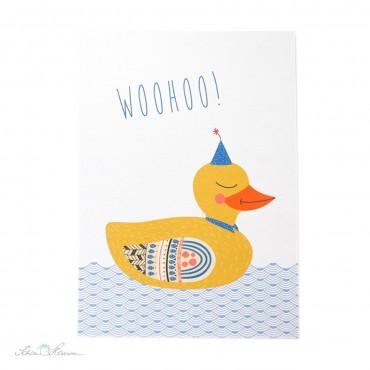 "Postkarte ""WOOHOO"", Partyente"
