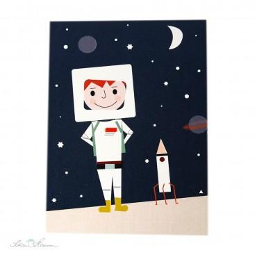 Postkarte Astronaut