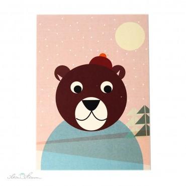 Postkarte Bär