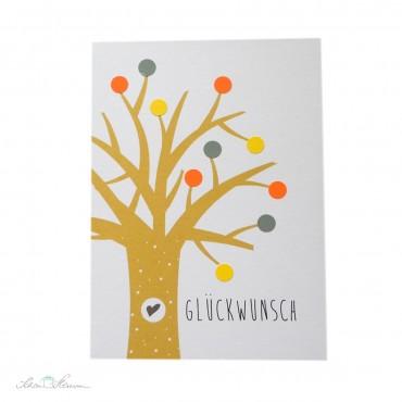 "Klappkarte ""Glückwunsch"", Baum"