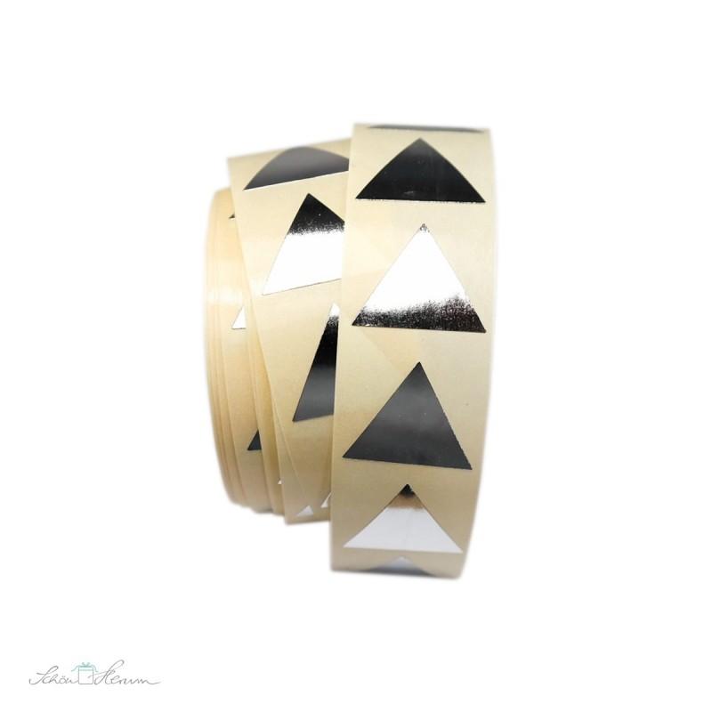 Aufkleber Pyramide / silber, 20 Stück