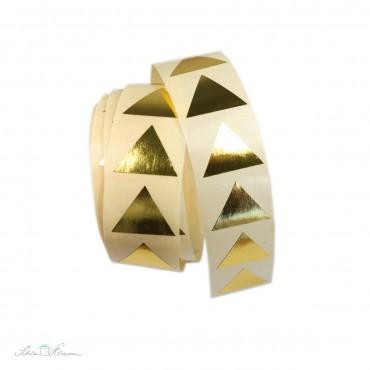Aufkleber Pyramide / gold, 20 Stück
