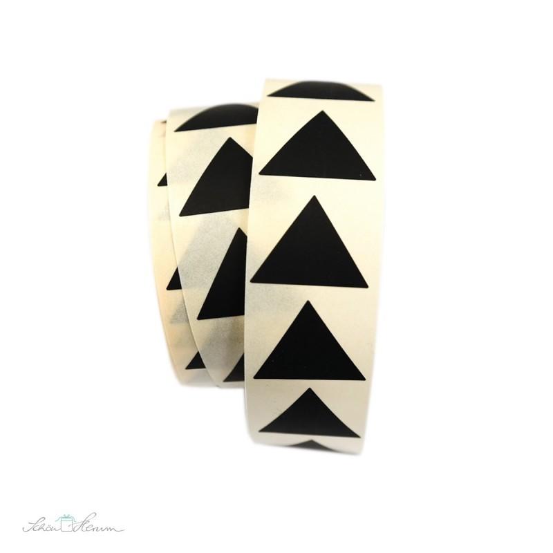 Aufkleber Pyramide / schwarz, 20 Stück
