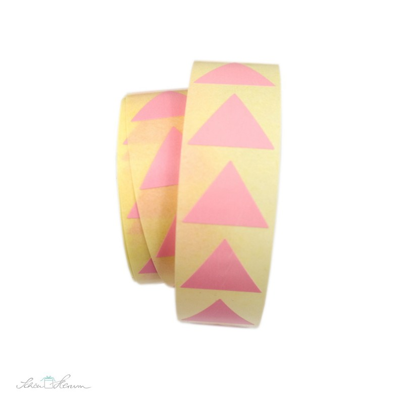 Aufkleber Pyramide / rosa, 20 Stück