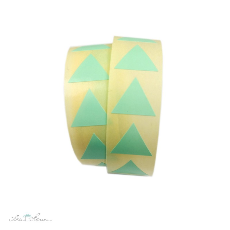 Aufkleber Pyramide / mintgrün, 20 Stück