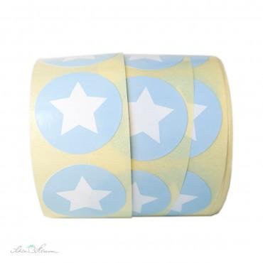 Aufkleber Stern / Babyblau