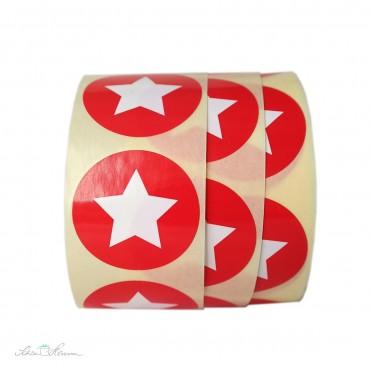 Aufkleber Stern / Rot / 10 Stück