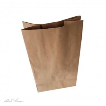 Blockboden Papiertüte, Kraftpapier, 18 x 11 x 35 cm