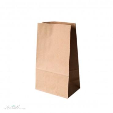 Geschenktüte mit Blockboden, Kraftpapier, 12 Stück, 13 x 9 x 25cm