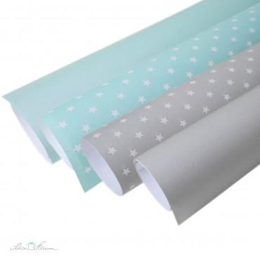 Geschenkpapier einfarbig, grau, cool & hell