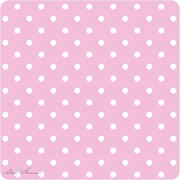 Geschenkpapier Rosa / weiße Punkte