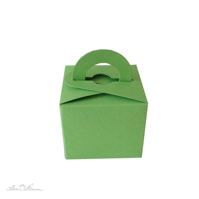 Geschenkschachtel mit Henkel, Limettengrün
