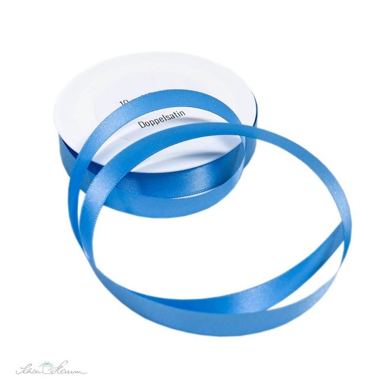 Geschenkband Satin / babyblau / 1.5 cm breit