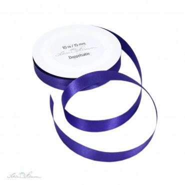 Geschenkband Satin / lila / 1.5 cm breit