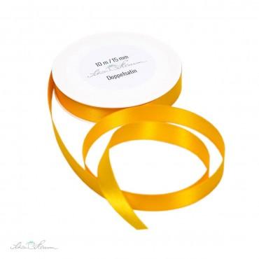 Geschenkband Satin / sonnengelb / 1.5 cm breit