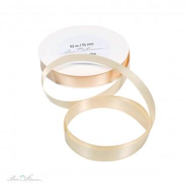Geschenkband Satin / creme / 1.5 cm breit