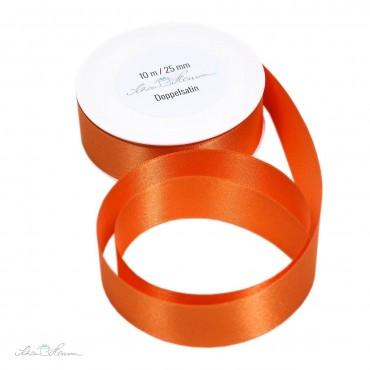 Geschenkband Satin / orange / 2.5 cm breit / 10 m