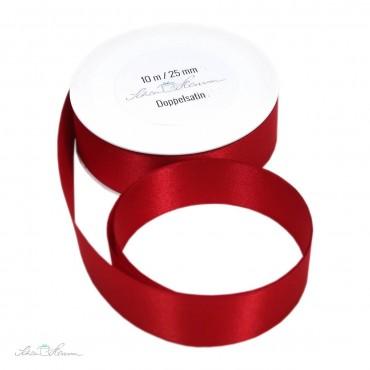 Geschenkband Satin / rot / 2.5 cm breit / 10 m