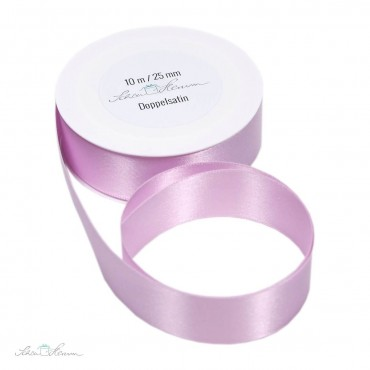 Geschenkband Satin / rosa / 2.5 cm breit / 10 m