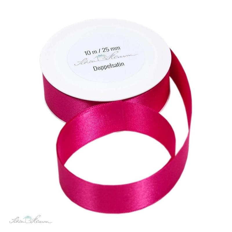 Geschenkband Satin / pink / 2.5 cm breit / 10 m