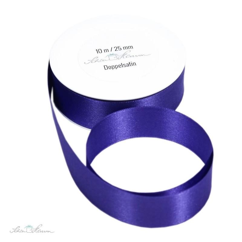 Geschenkband Satin / lila / 2.5 cm breit / 10 m