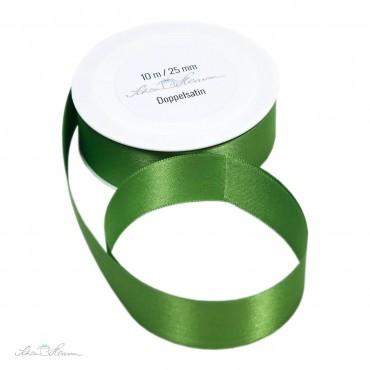 Geschenkband Satin / grün / 2.5 cm breit / 10 m