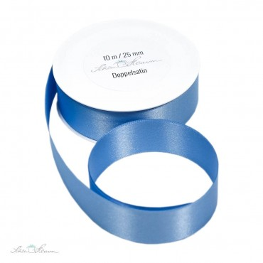 Geschenkband Satin / babyblau / 2.5 cm breit / 10 m