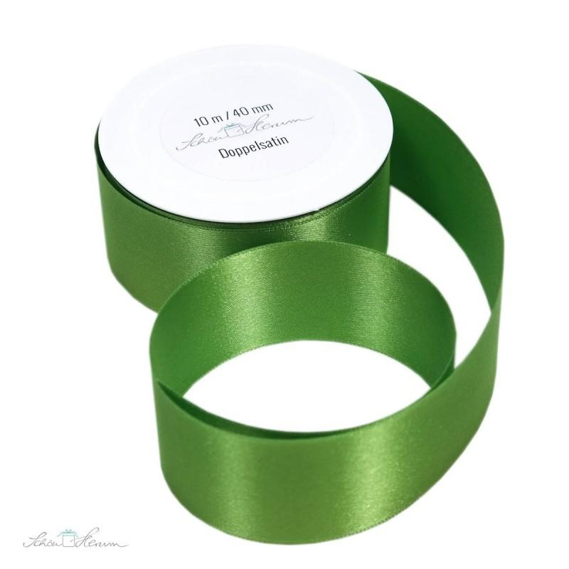 Geschenkband Satin / grün / 4 cm breit