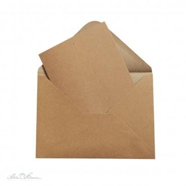 Kraftpapier Karte und Umschlag, A6, C6