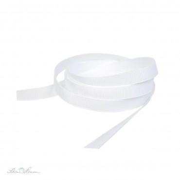 Ripsband, weiß, 9 mm breit, 2 m