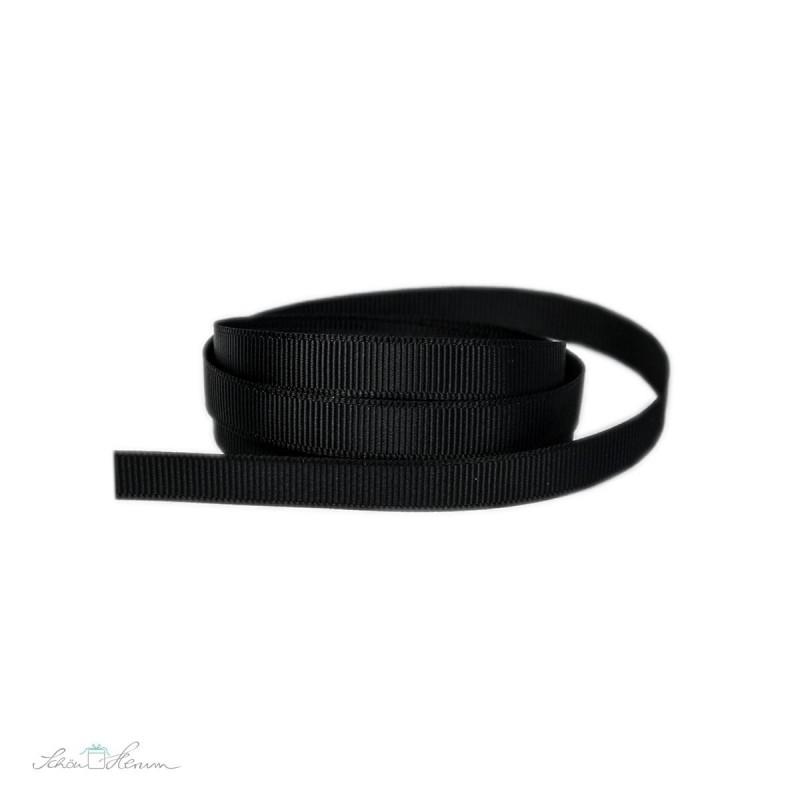 Ripsband, schwarz, 9 mm breit, 2 m