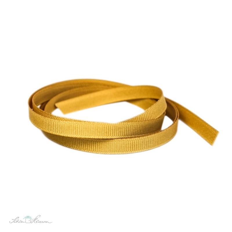 Ripsband, gold, 6 mm breit, 2 m