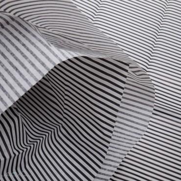 Seidenpapier, Streifen schwarz / weiß