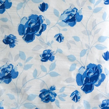 Seidenpapier, Rosen, blau