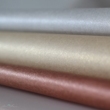 Seidenpapier, gold, perlmutt, beidseitig, farbecht