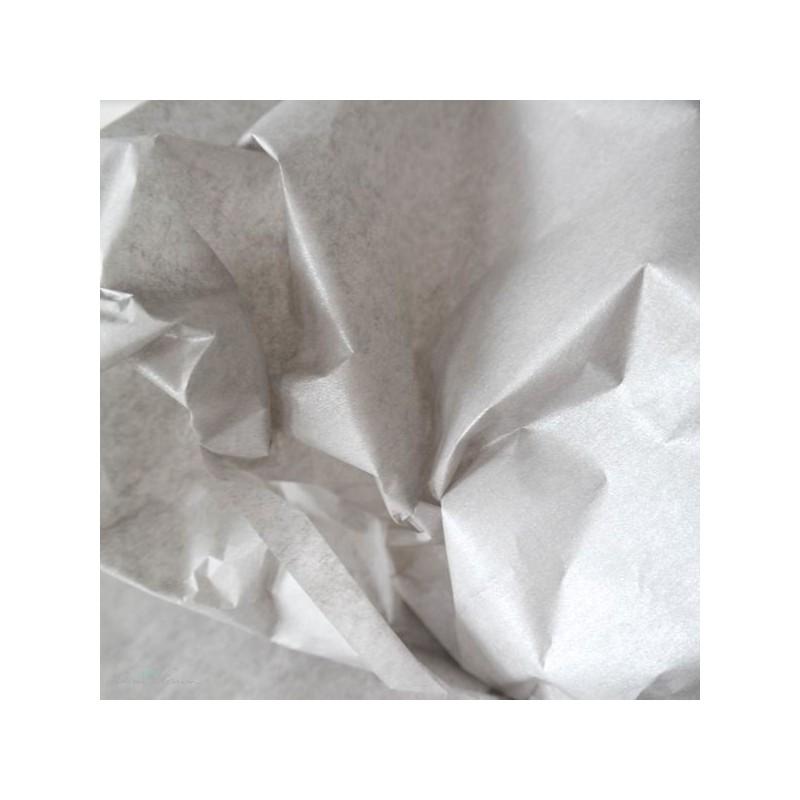 Seidenpapier, silber, perlmutt, beidseitig, farbecht