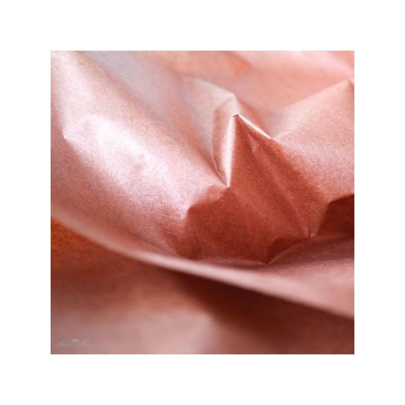 Seidenpapier, kupfer, perlmutt, beidseitig, farbecht
