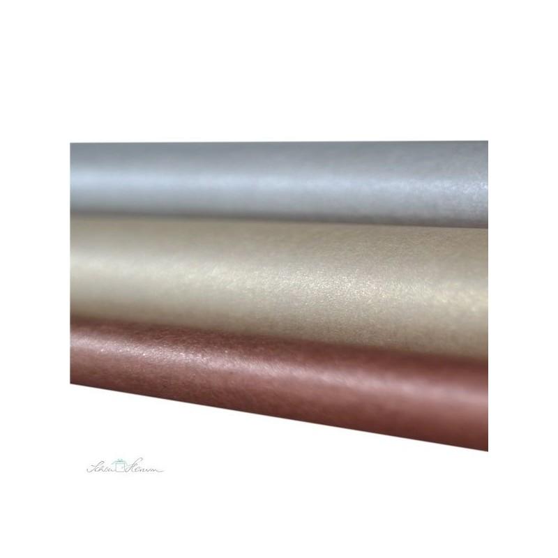 Seidenpapier Set,  gold, silber, kupfer