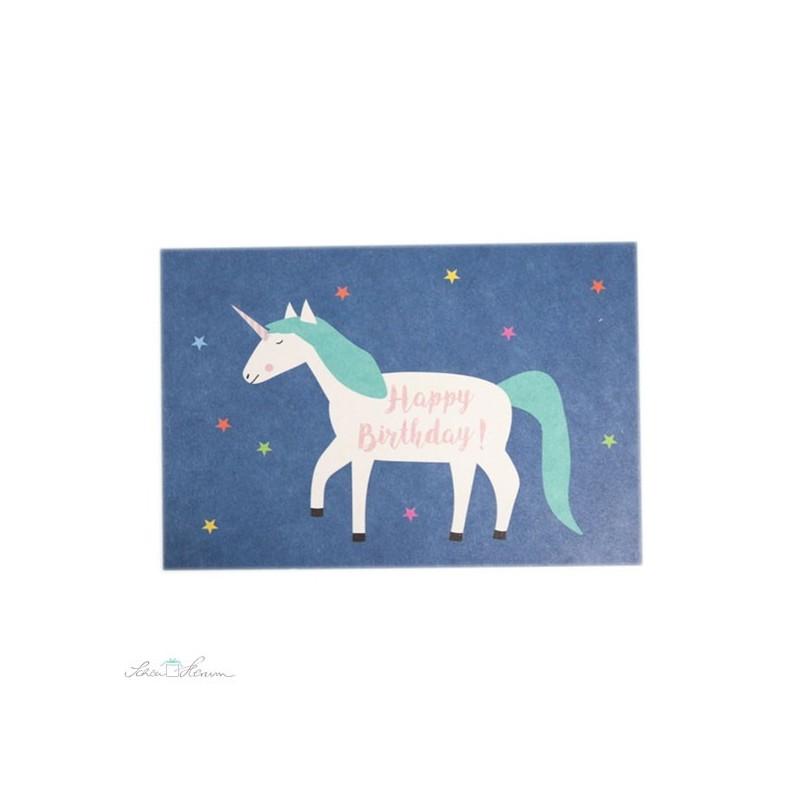"""Postkarte Einhorn """"Happy Birthday"""""""