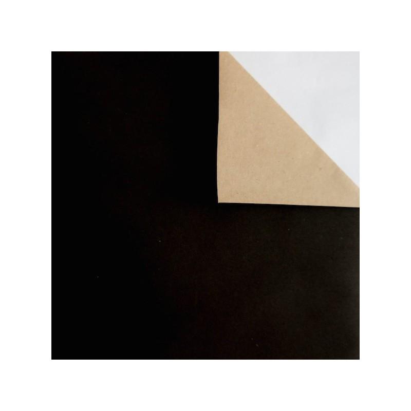 Geschenkpapier, doppelseitig, schwarz, kraftbraun