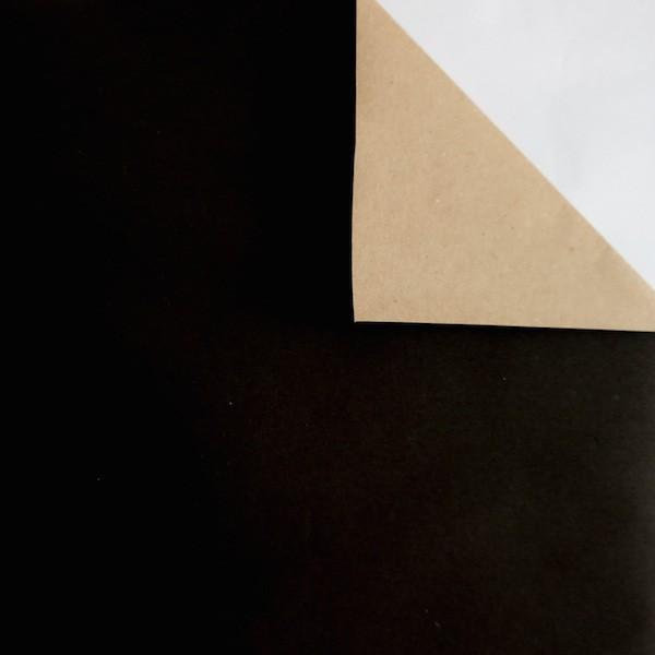 Geschenkpapier doppelseitig schwarz kraftbraun rolle for Ecksofa 2m x 2m