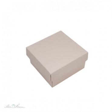 Edle Geschenkschachtel, mit Deckel, nude, 9 x 9 x 5 cm