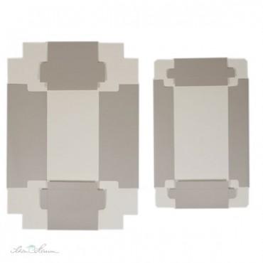 Edle Geschenkschachtel, mit Deckel, sand, 10 x 20 x 8 cm